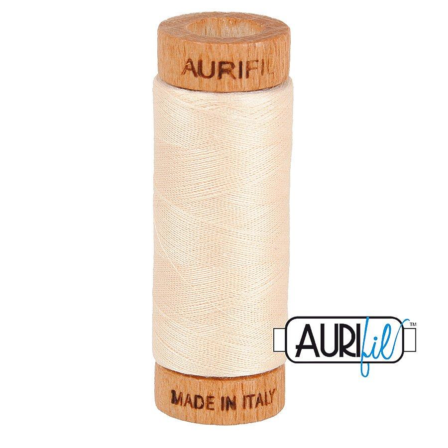 Aurifil Cotton Mako Thread 80wt 280m BMK80 2000 Cream