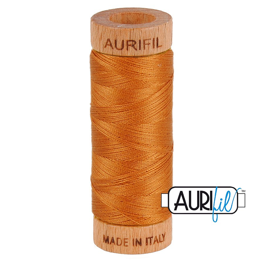 Aurifil Cotton Mako Thread 80wt 280m BMK80 2155 Orange