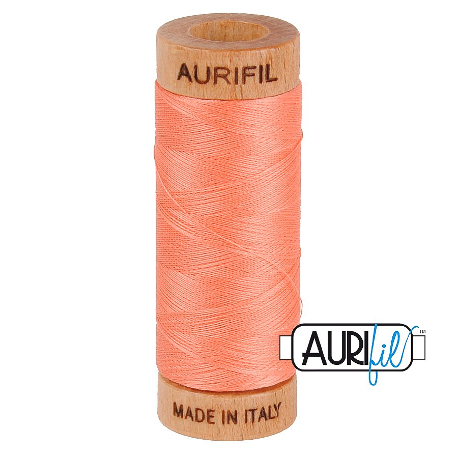 Aurifil Cotton Mako Thread 80wt 280m BMK80 2220 Pink Peach