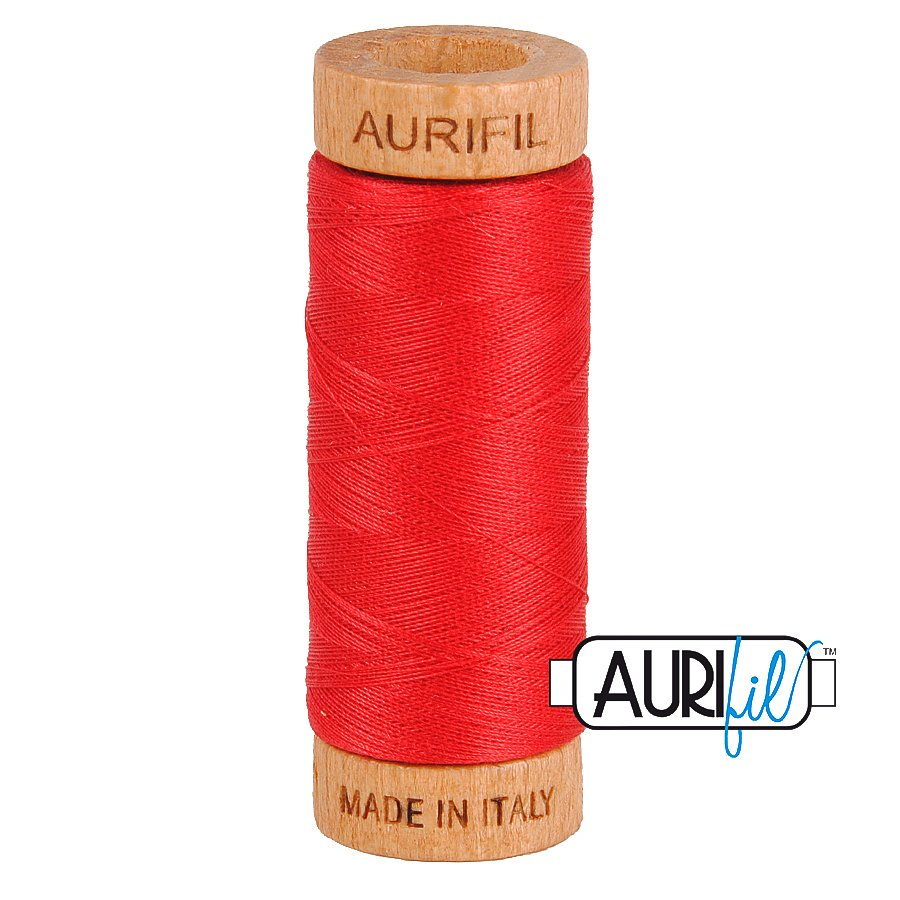 Aurifil Cotton Mako Thread 80wt 280m BMK80 2250 Red Orange