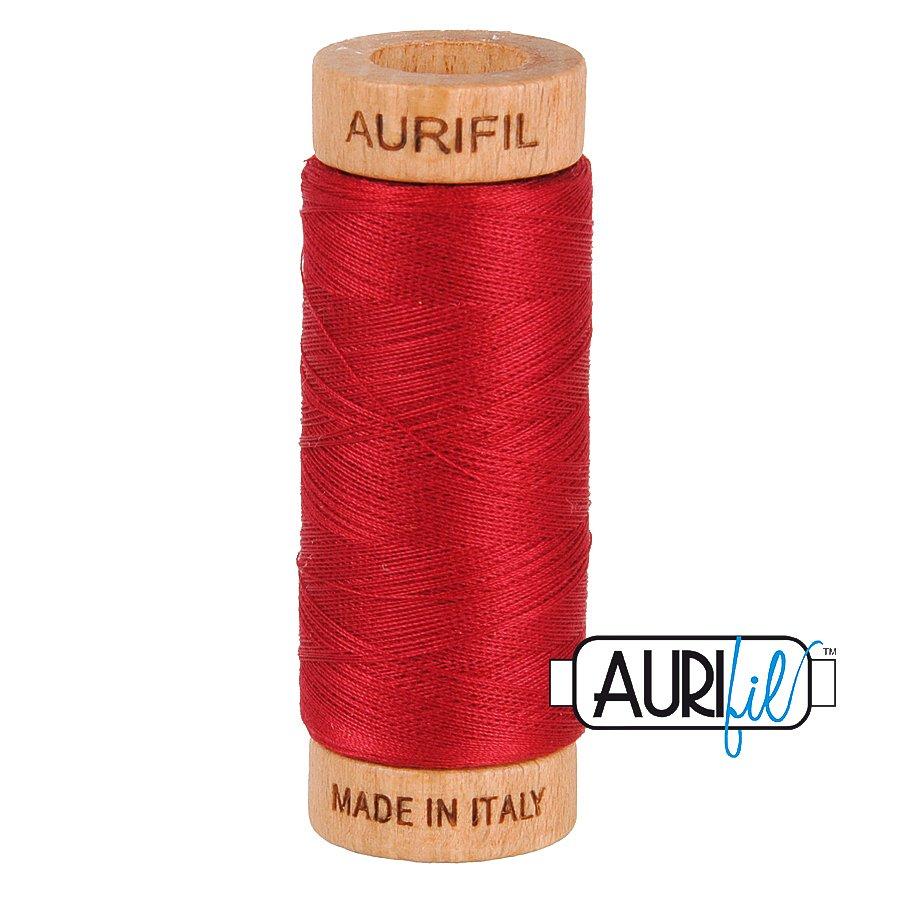 Aurifil Cotton Mako Thread 80wt 280m BMK80 2260 Red