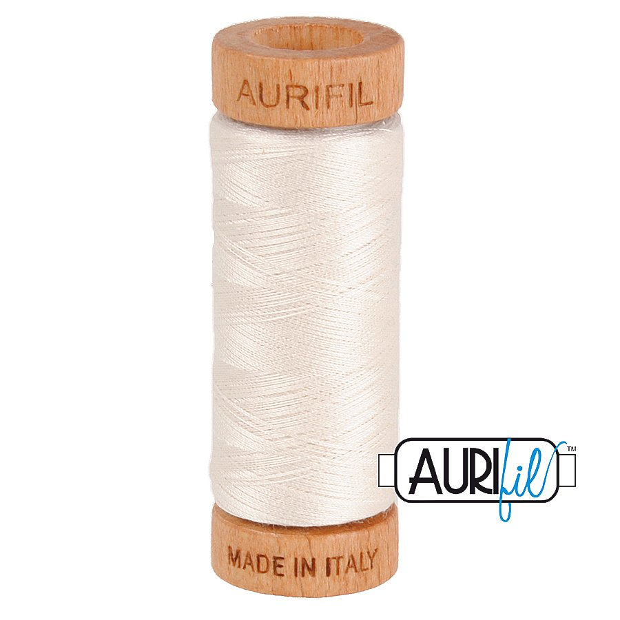Aurifil Cotton Mako Thread 80wt 280m BMK80 2311 White