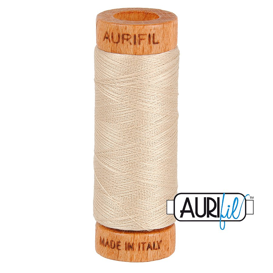 Aurifil Cotton Mako Thread 80wt 280m BMK80 2312 Beige Cream
