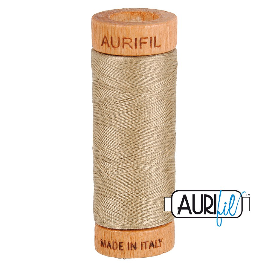 Aurifil Cotton Mako Thread 80wt 280m BMK80 2325 Tan Beige