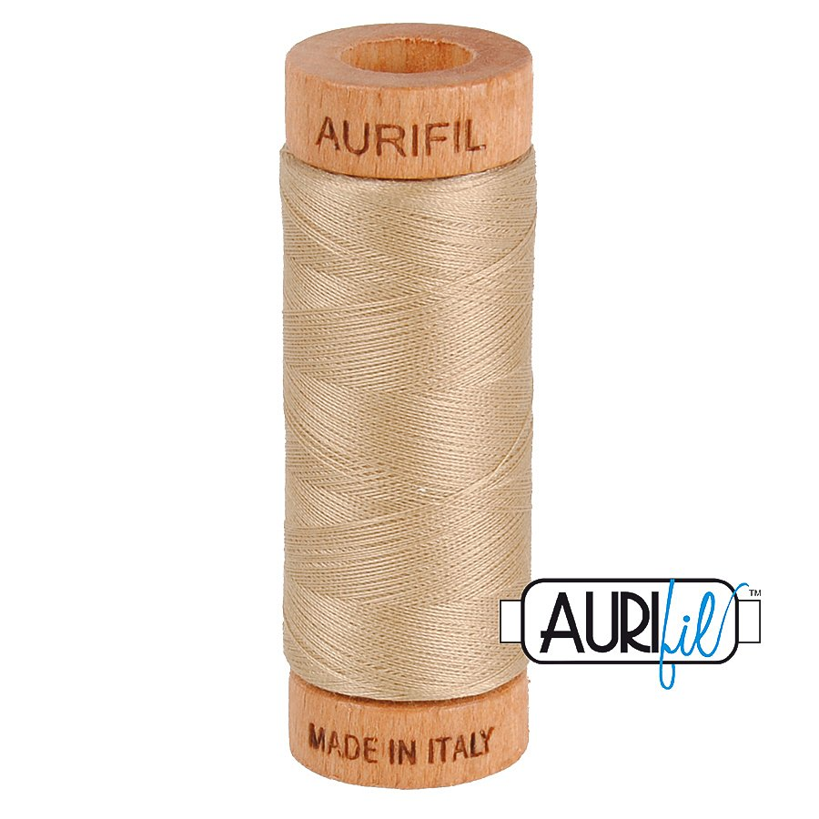 Aurifil Cotton Mako Thread 80wt 280m BMK80 2326 Tan Beige