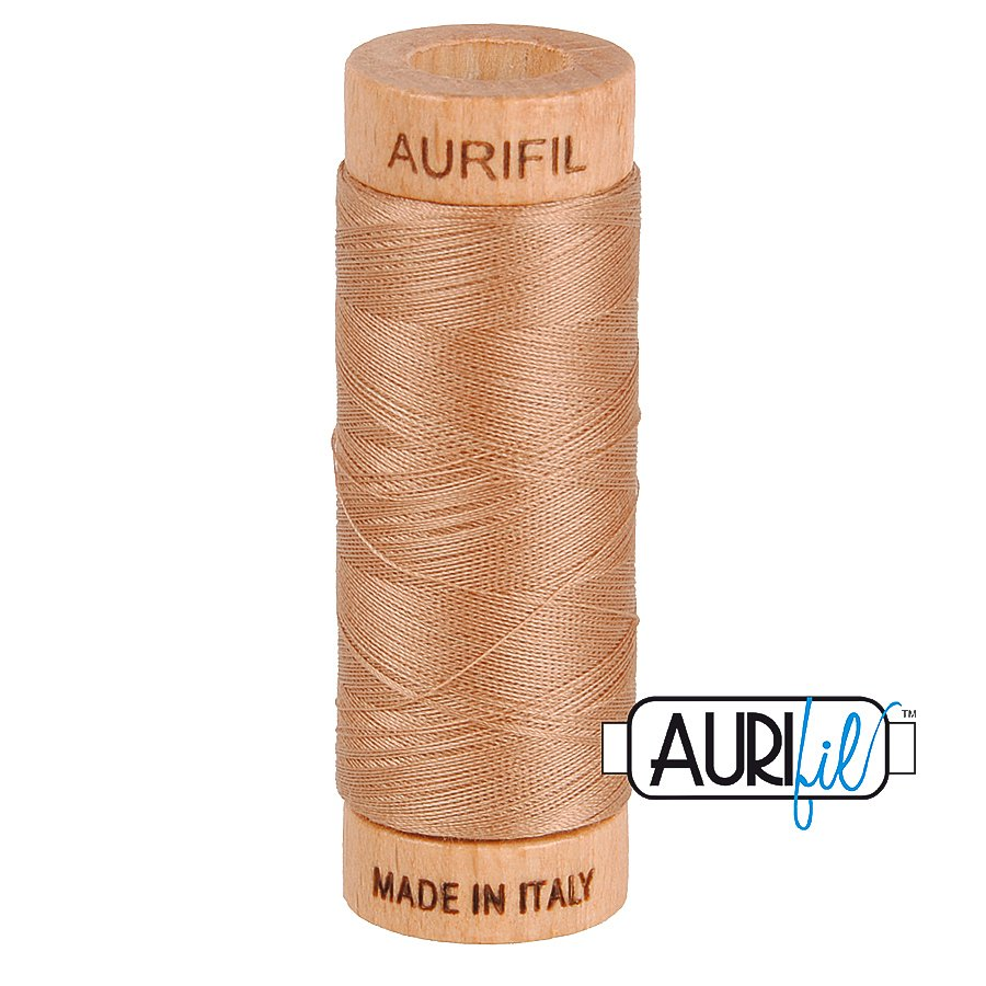 Aurifil Cotton Mako Thread 80wt 280m BMK80 2340 Light Brown Tan