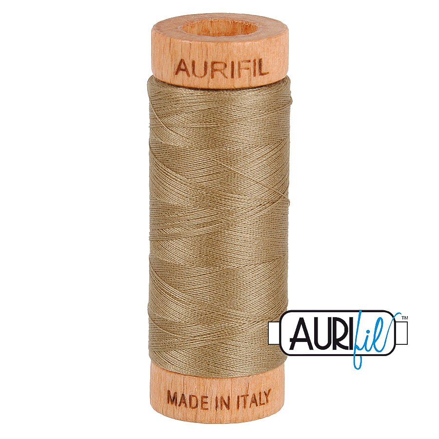 Aurifil Cotton Mako Thread 80wt 280m BMK80 2370 Light Gray Green