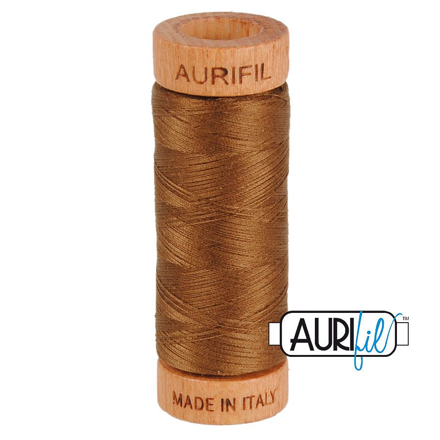 Aurifil Cotton Mako Thread 80wt 280m BMK80 2372 Brown