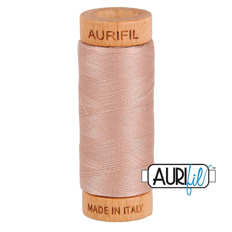 Aurifil Cotton Mako Thread 80wt 280m BMK80 2375 Light Mauve Pink