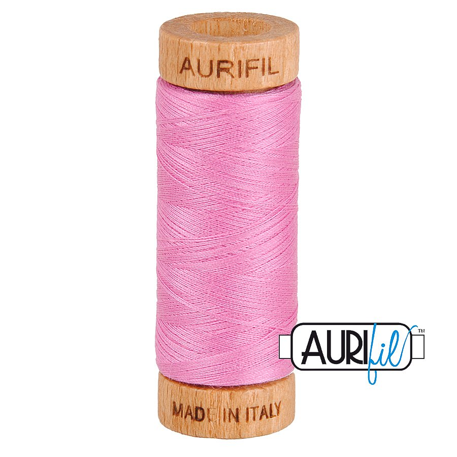 Aurifil Cotton Mako Thread 80wt 280m BMK80 2479 Pink
