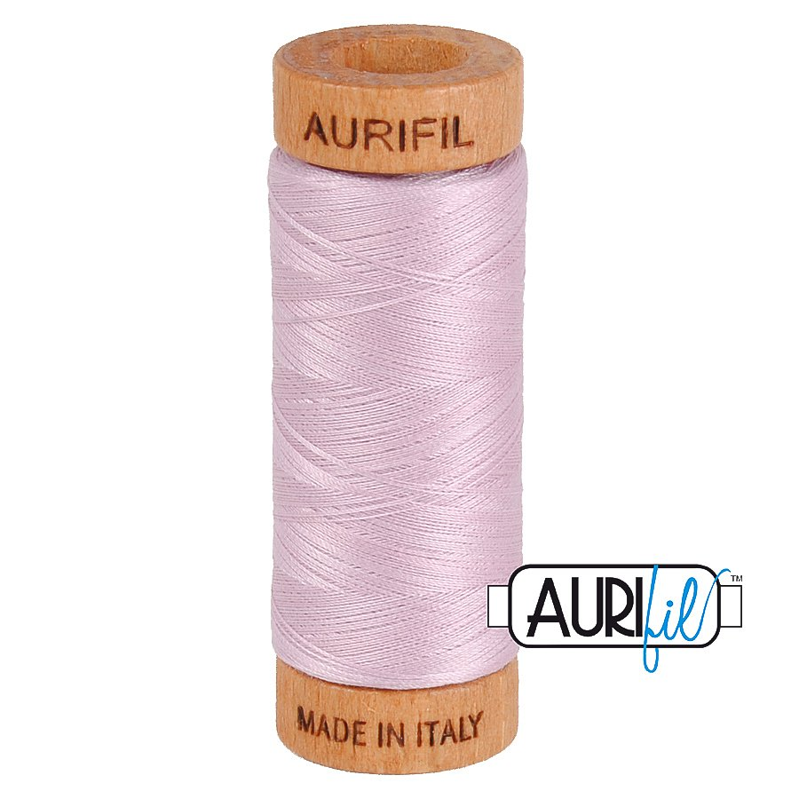 Aurifil Cotton Mako Thread 80wt 280m BMK80 2510 Light Pink Lavender