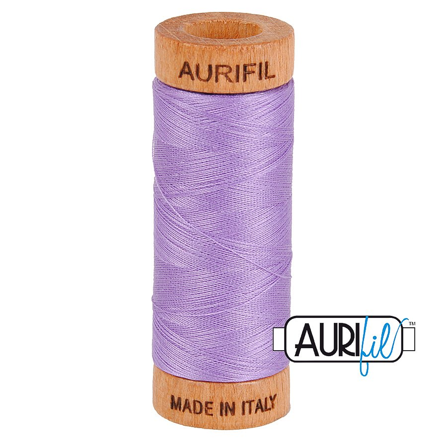 Aurifil Cotton Mako Thread 80wt 280m BMK80 2520 Medium Purple
