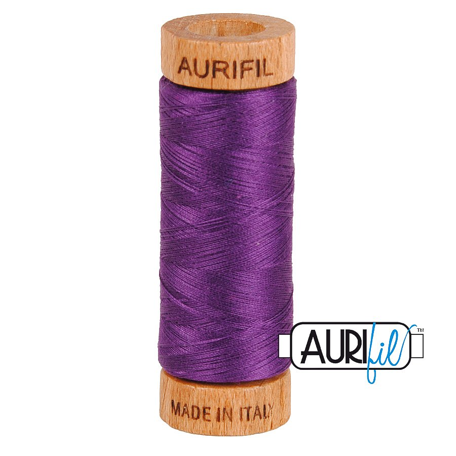 Aurifil Cotton Mako Thread 80wt 280m BMK80 2545 Purple