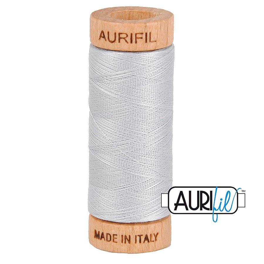 Aurifil Cotton Mako Thread 80wt 280m BMK80 2600 Light Gray