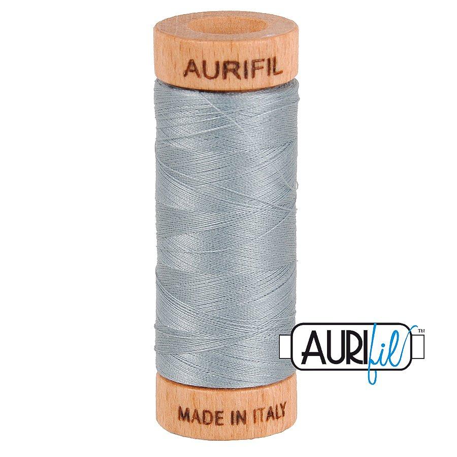 Aurifil Cotton Mako Thread 80wt 280m BMK80 2610 Light Gray Blue