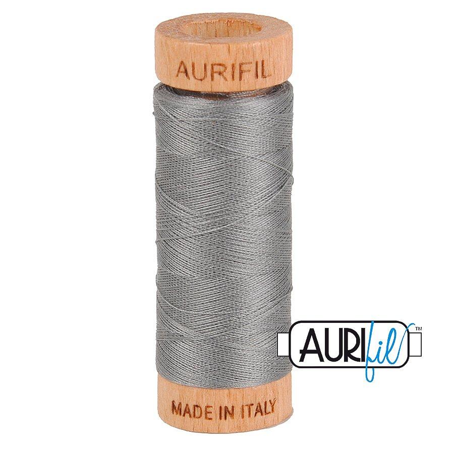 Aurifil Cotton Mako Thread 80wt 280m BMK80 2625 Medium Gray