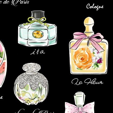 AMOUR DE FLEUR PERFUME BOTTLES Style # : 27053 -J  Color : BLACK