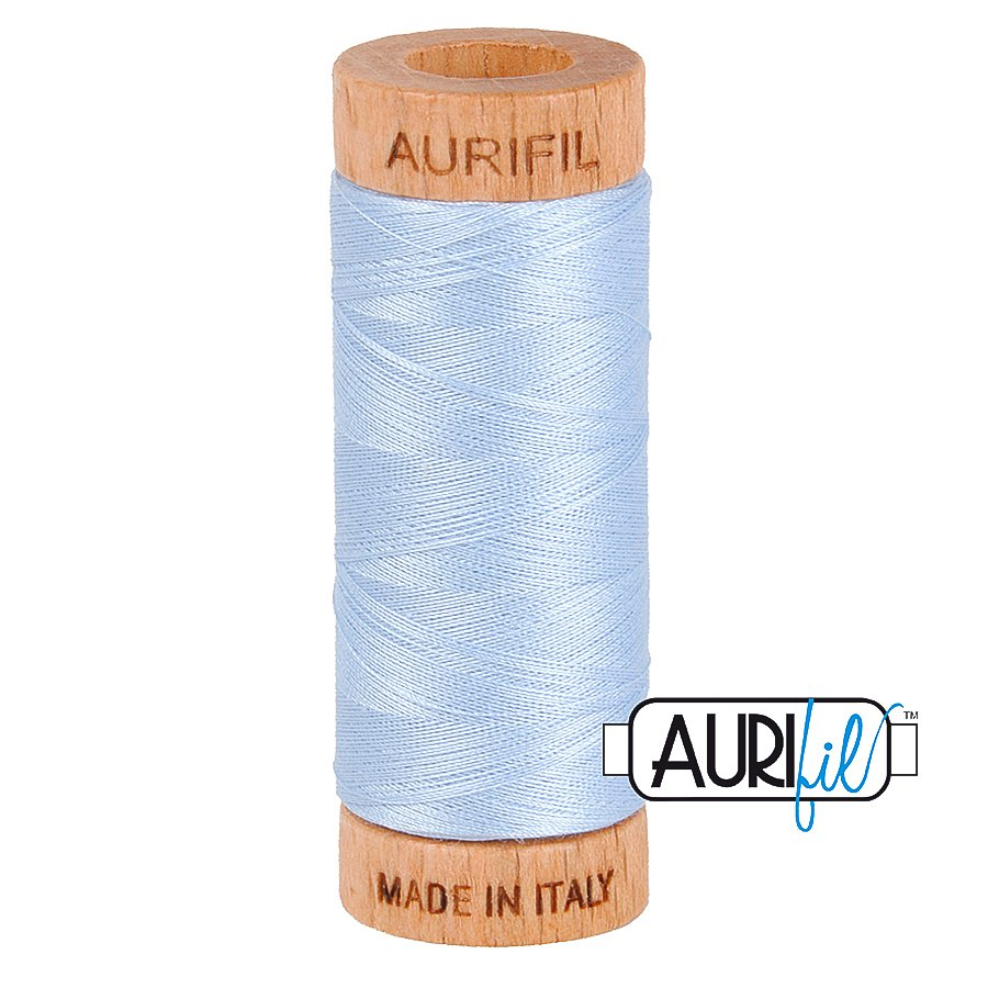 Aurifil Cotton Mako Thread 80wt 280m BMK80 2710 Light Blue