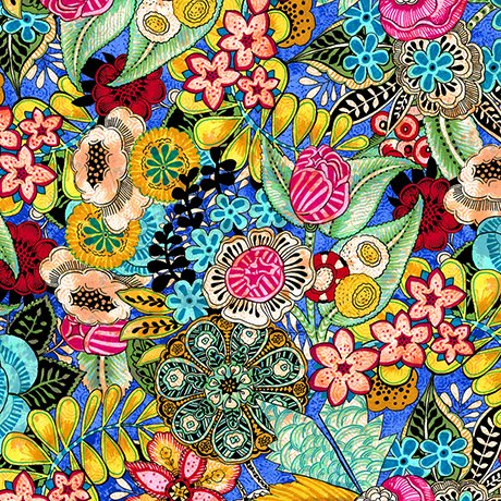 FIORELLA FLORAL Style # : 27179 -Y  Color : ROYAL