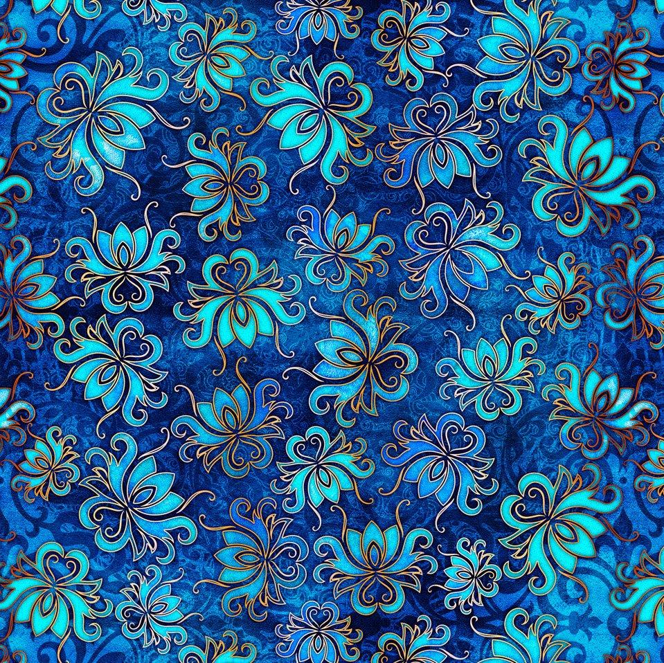 PANDORA FLORAL TOSS Style # : 27185 -B  Color : INDIGO