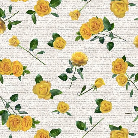 THIS & THAT I YELLOW ROSES Style # : 27247 -S  Color : PARCHMENT