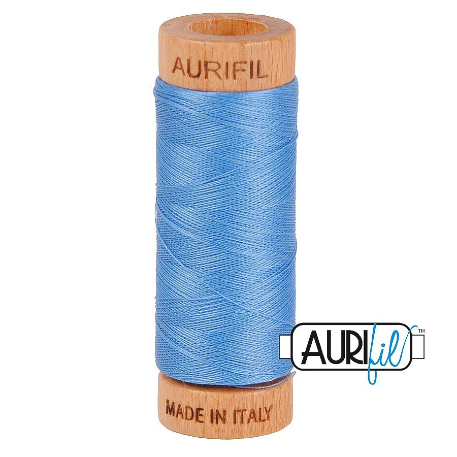 Aurifil Cotton Mako Thread 80wt 280m BMK80 2725 Blue