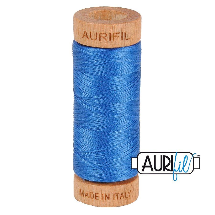Aurifil Cotton Mako Thread 80wt 280m BMK80 2730 Bright Blue