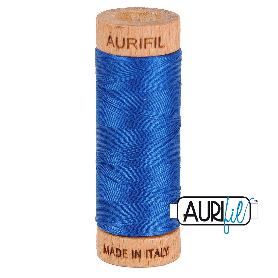 Aurifil Cotton Mako Thread 80wt 280m BMK80 2740 Bright Blue