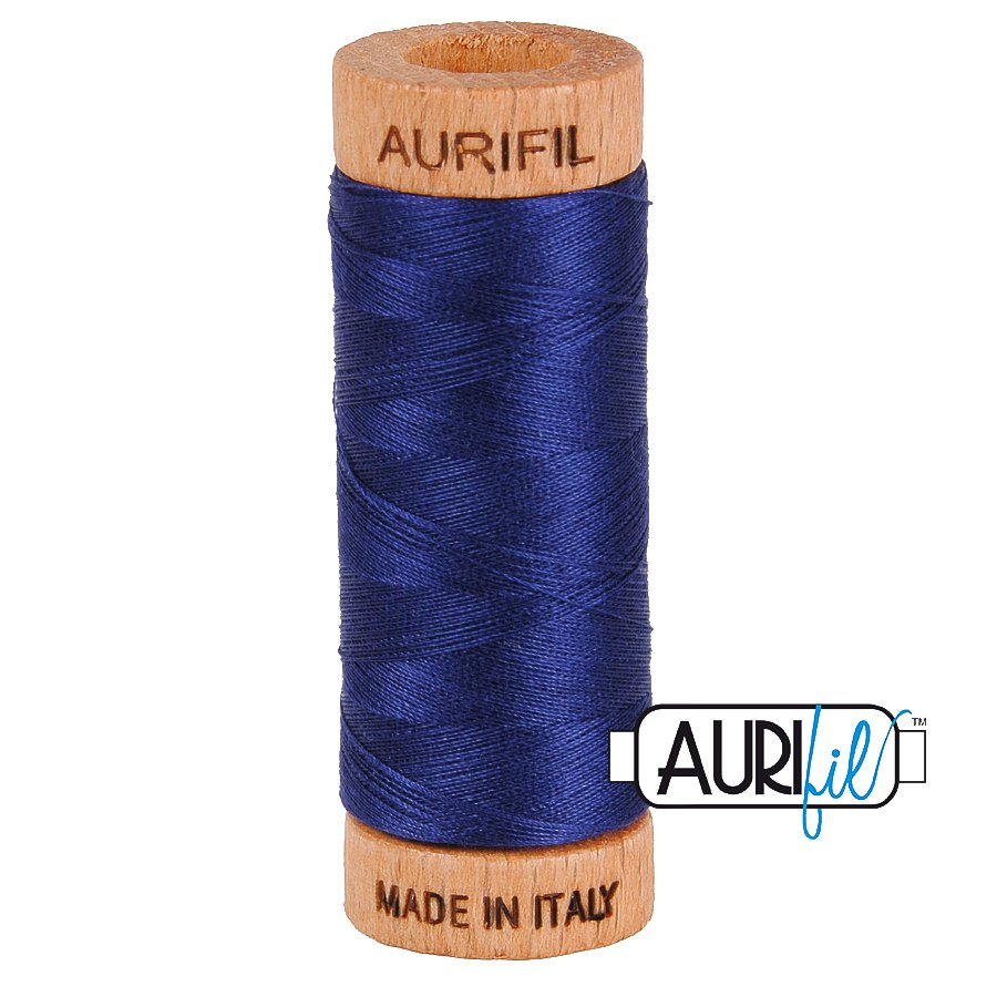 Aurifil Cotton Mako Thread 80wt 280m BMK80 2745 Blue