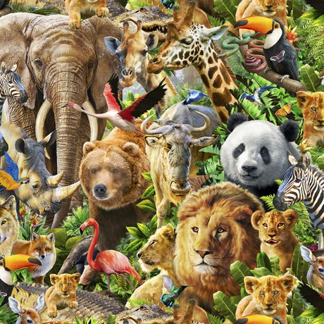 ARTWORKS XIV PACKED ANIMALS Style # : 27519 -X  Color : MULTI