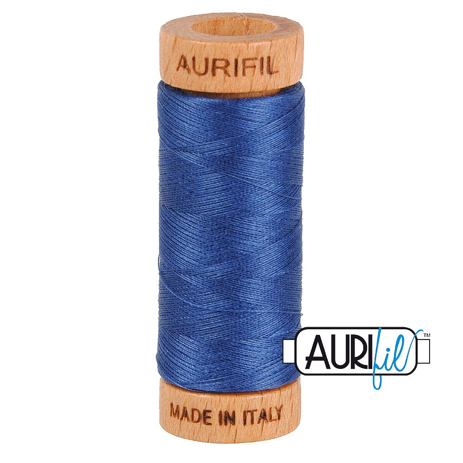 Aurifil Cotton Mako Thread 80wt 280m BMK80 2775 Blue