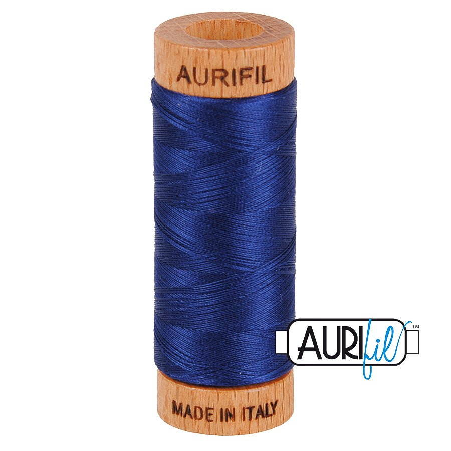Aurifil Cotton Mako Thread 80wt 280m BMK80 2784 Blue