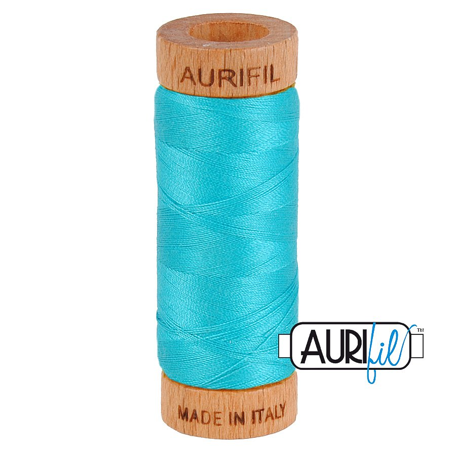 Aurifil Cotton Mako Thread 80wt 280m BMK80 2810 Turquoise