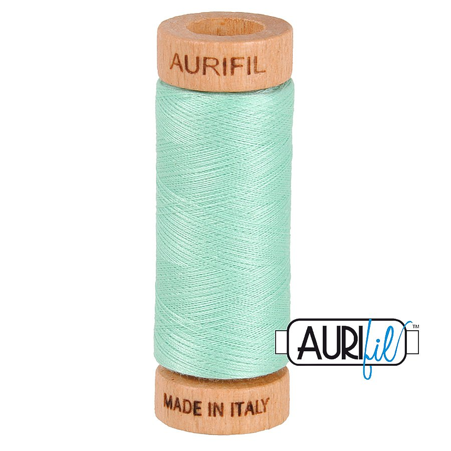 Aurifil Cotton Mako Thread 80wt 280m BMK80 2835 Light Seafoam Green
