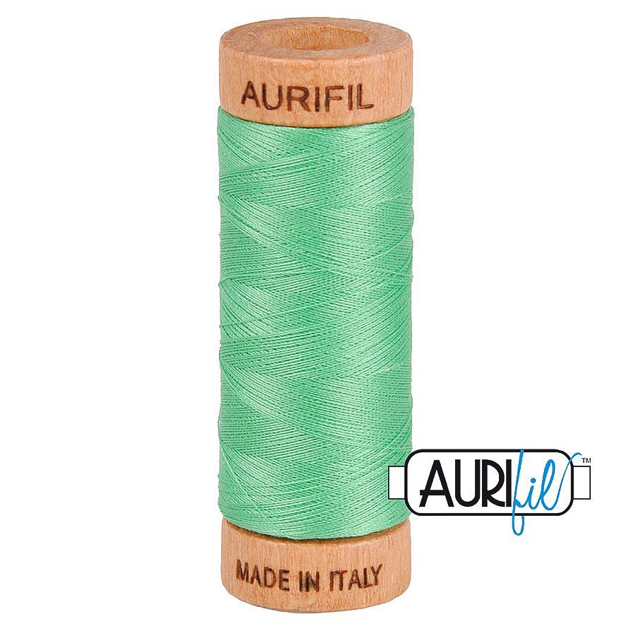 Aurifil Cotton Mako Thread 80wt 280m BMK80 2860 Green