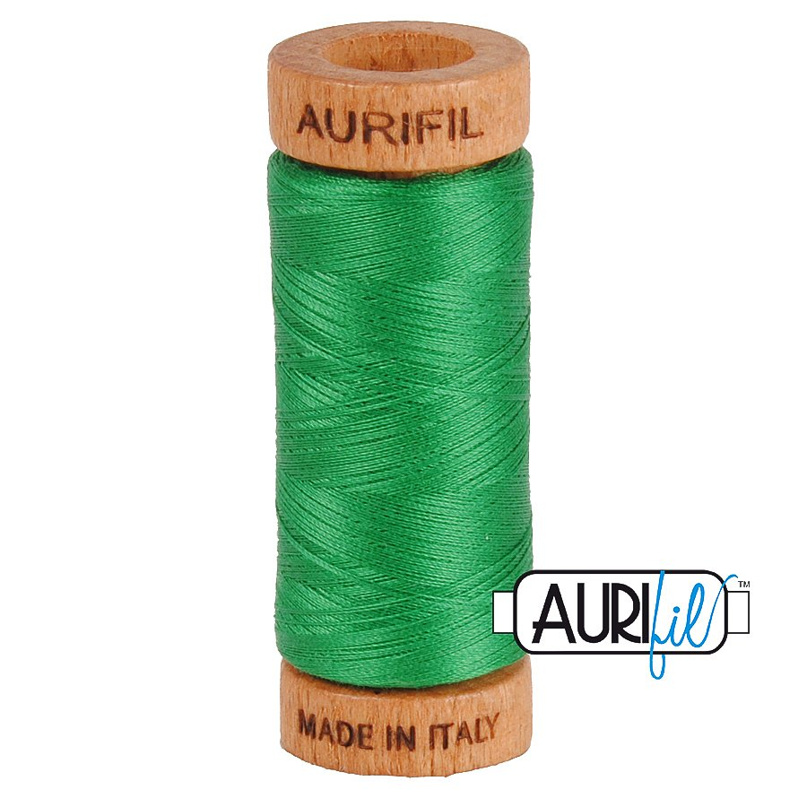 Aurifil Cotton Mako Thread 80wt 280m BMK80 2870 Green