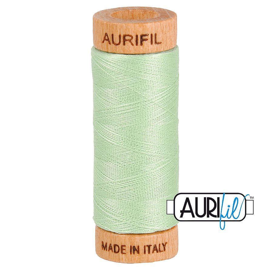 Aurifil Cotton Mako Thread 80wt 280m BMK80 2880 Light Green