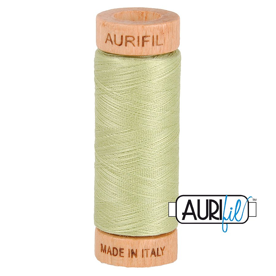 Aurifil Cotton Mako Thread 80wt 280m BMK80 2886 Light Green