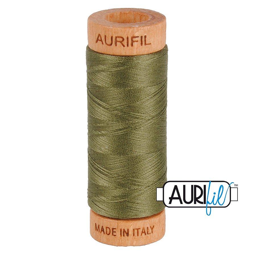 Aurifil Cotton Mako Thread 80wt 280m BMK80 2905 Green