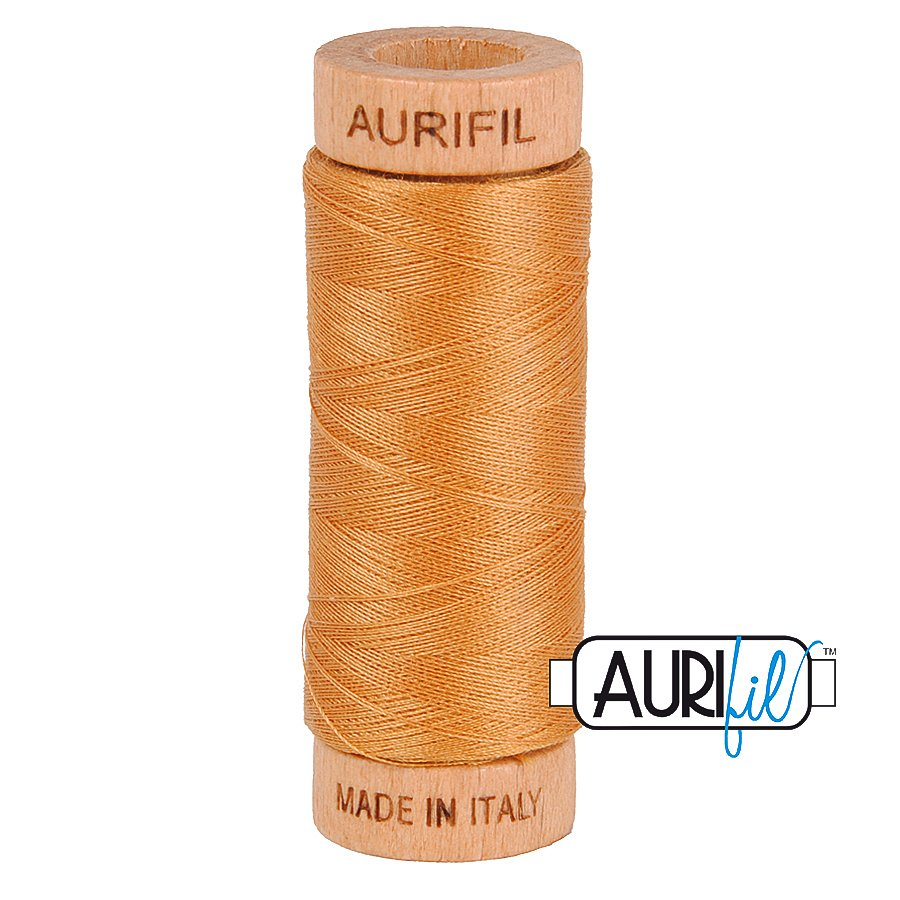 Aurifil Cotton Mako Thread 80wt 280m BMK80 2930 Light Orange