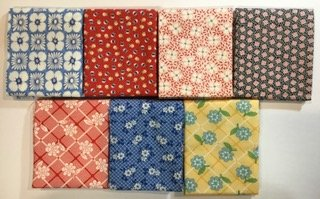 Assorted Moda 30's Fat Quarter Bundle- 7 piece