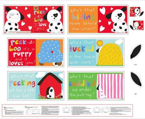 36 Peek-A-Boo Book Panel E-HUG&LOVE VI E-4610P-1