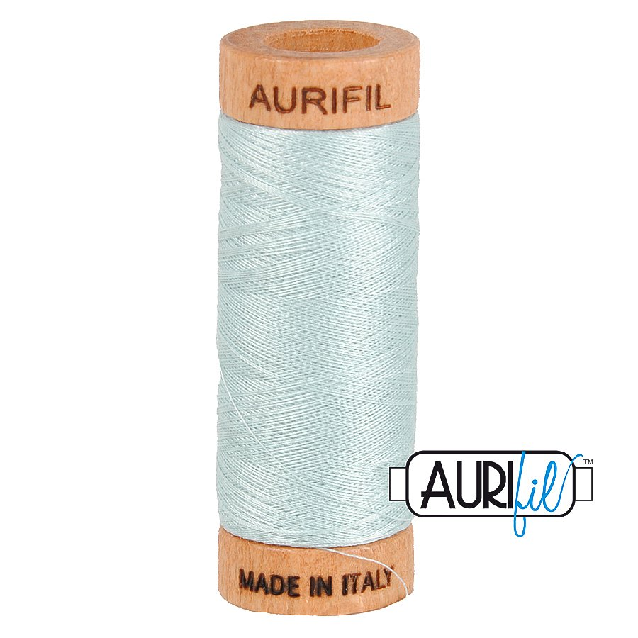 Aurifil Cotton Mako Thread 80wt 280m BMK80 5007 Light Blue