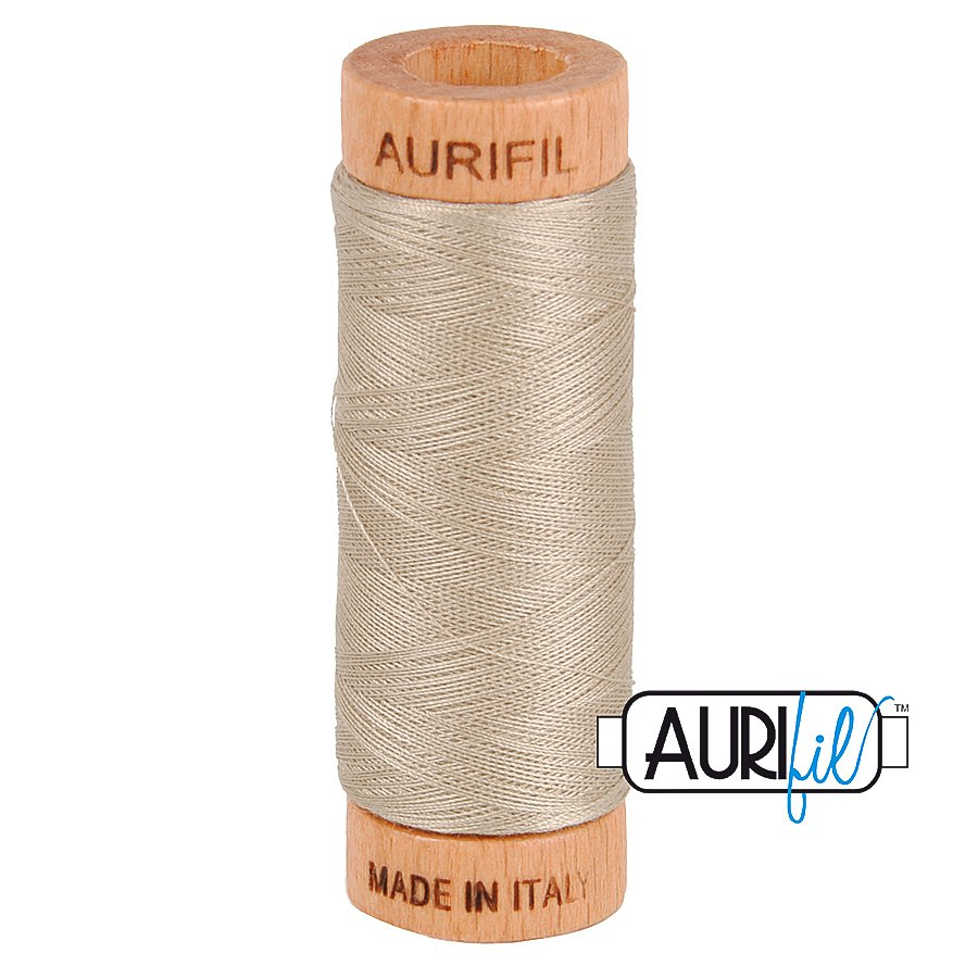 Aurifil Cotton Mako Thread 80wt 280m BMK80 5011 Tan Light Brown