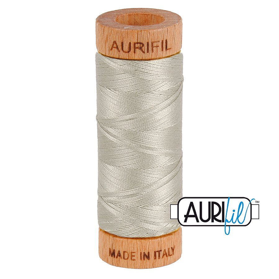 Aurifil Cotton Mako Thread 80wt 280m BMK80 5021 Light Gray