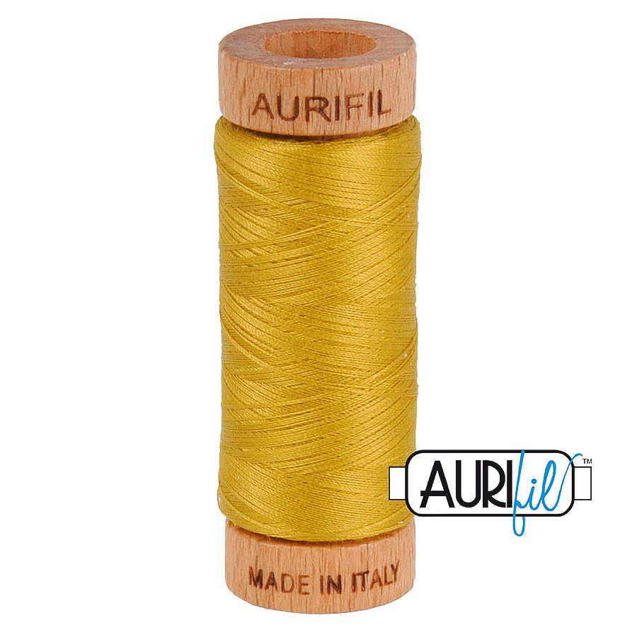 Aurifil Cotton Mako Thread 80wt 280m BMK80 5022 Gold Yellow