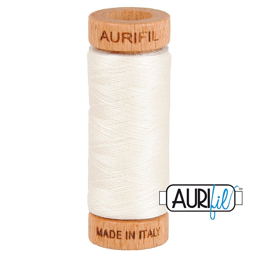 Aurifil Cotton Mako Thread 80wt 280m BMK80 6722 White