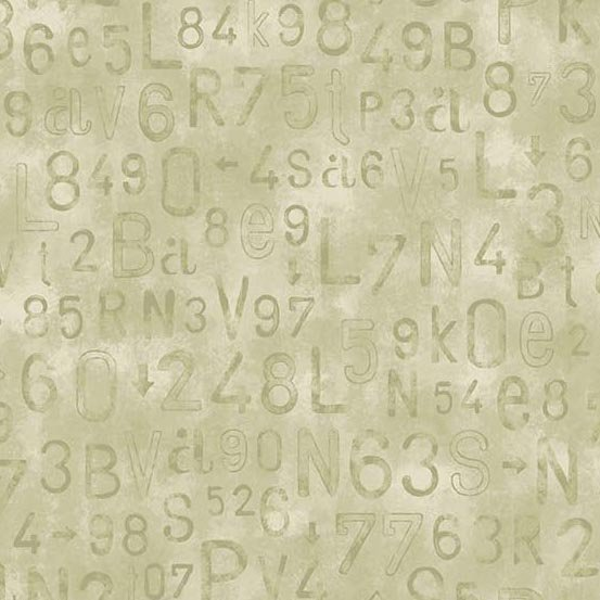 Rough Hewn Numbers and Letters Neutral A-9153-GL