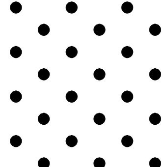 Dotsy White with Black Polka Dots