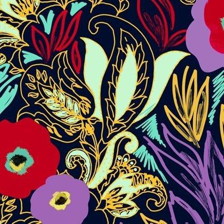 Adeline Linear Floral 1649-27031-N